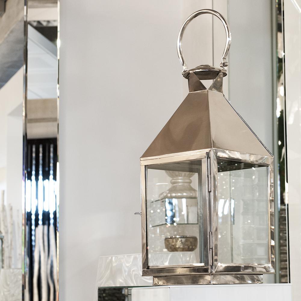 nic duysens laterne silber glas viereckig laterne ebay. Black Bedroom Furniture Sets. Home Design Ideas
