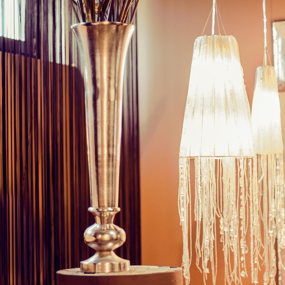 nic duysens alu vase trompete nickel poliert deko vase. Black Bedroom Furniture Sets. Home Design Ideas