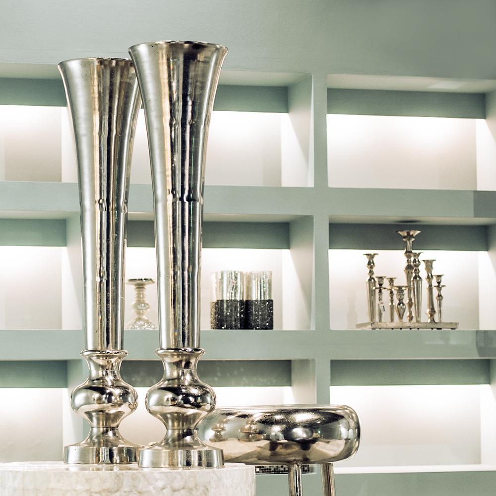 nic duysens alu vase trompete nickel poliert deko vase ebay. Black Bedroom Furniture Sets. Home Design Ideas