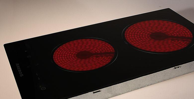 Table de cuisson vitroc ramique plaque de cuisson autonome - Table de cuisson vitroceramique 2 foyers ...