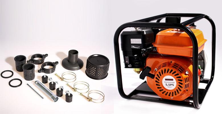 5 5 ps benzin wasserpumpe motorpumpe gartenpumpe neu ebay. Black Bedroom Furniture Sets. Home Design Ideas