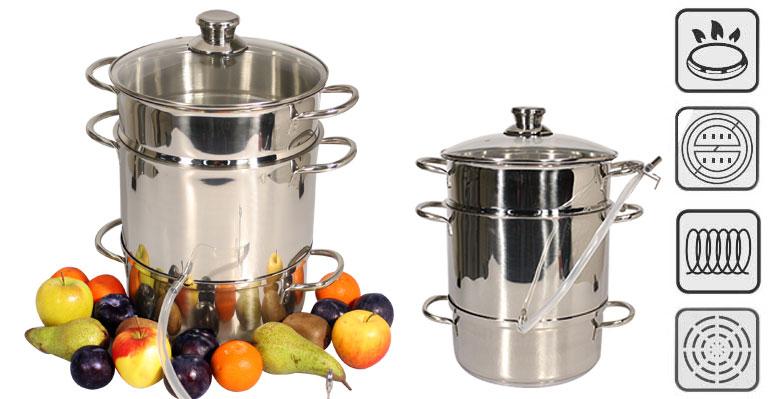 extracteur de jus vapeur cuiseur vapeur centrifugeuse en acier inox 26cm ebay. Black Bedroom Furniture Sets. Home Design Ideas